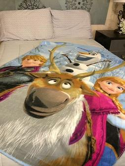 Disney Frozen Fleece Throw Blanket 45 x 60 Anna Olaf Kristof