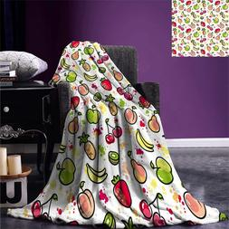 Fruits <font><b>Throw</b></font> <font><b>Blanket</b></font>