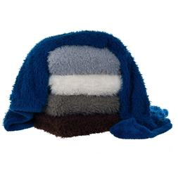 Fuzzy and Soft Sherpa Fleece Throw 50 x 60 Inch Solid Color