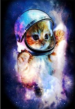 QH Galaxy Cat Printing Velvet Plush Throw Blanket Comfort De