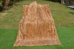 "Genuine Natural MINK Real FUR Pelz XXL Throw Blanket 61""x45"""