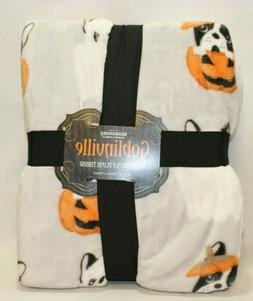 Berkshire Goblinville Halloween Dogs & Pumpkins Throw Blanke
