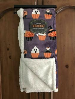 Berkshire Goblinville Reverse Sherpa Halloween Cupcake Fleec
