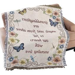 Collections Etc Granddaughter Tapestry Throw Blanket