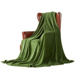 "MERRYLIFE Green Throw Blanket Decorative Ultra-Plush | 50""60"