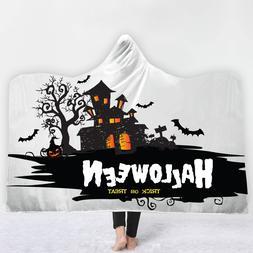 Halloween Hooded <font><b>Blanket</b></font> Soft Plush Fash