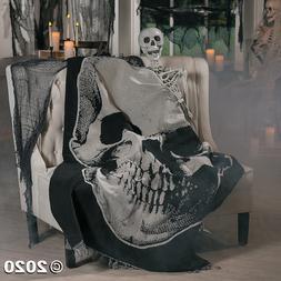 Vintage Skull Throw Blanket Halloween