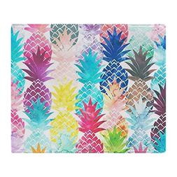 CafePress Hawaiian Pineapple Pattern Tropical Soft Fleece Th