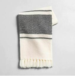 Hearth & Hand with Magnolia Cream and Gray Woven Throw Blank