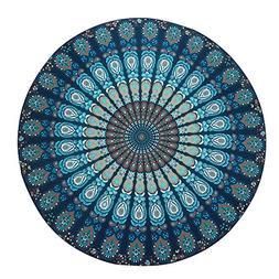 ISYITLTY Hippie Mandala Tapestry Round Roundie Wall Hanging