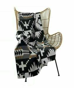 Pendleton Home Collection Spider Rock Luxe Black Multi Throw