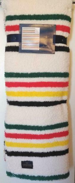 Pendleton Home Collection Striped Sherpa Fleece Throw Blanke