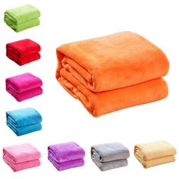 Home Coral Velvet Soft Polar Fleece Throw Blanket Rug Sofa B