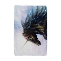 Home Decor Fantacy Unicorn Blankets and Throws Crystal Velve