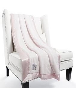 "Giraffe at Home Luxe Plush Faux Fur Throw Blanket, Pink, 59"""