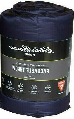 Eddie Bauer Home Primaloft Down 60 x 70 inch Navy Throw Blan