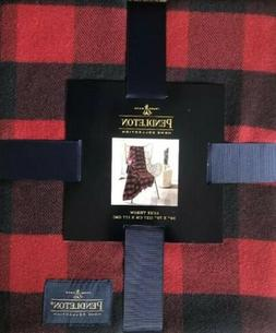 PENDLETON HOME ROB ROY RED BUFFALO CHECK DESIGN LUXE THROW B