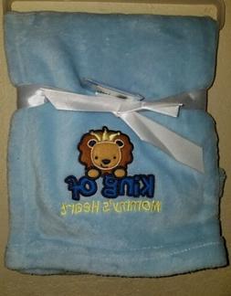 Honey Baby ultra soft blanket KING OF MOMMY'S HEART boys sz