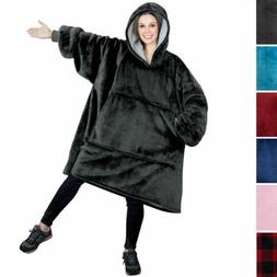 SOFTAN HOODIE SWEATSHIRT Wearable Blanket With Hood Sleeves