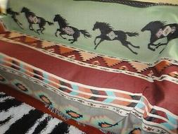 THE MANUAL WOODWORKERS HORSES SOUTHWESTERN  BLANKET/COUCH/BE