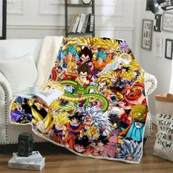 Hot Dragon Ball Z Goku 3D Digital Printed Throw Blanket Sofa