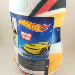 Hot Wheels Super Soft Plush Throw Blanket.. New