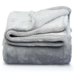 Hypoallergenic Premium Fleece Cozy Bed Couch Blanket  Throw