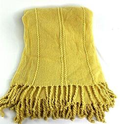 inc cable knit luxary throw blanket