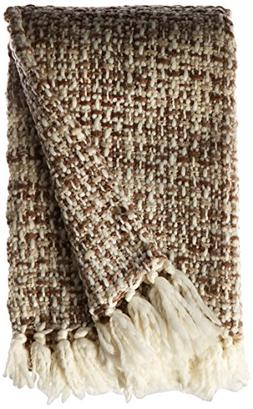 Textured Cross Knit Acrylic Throw Blanket With Fun, Bright C