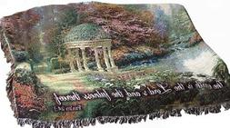 Manual Inspirational Collection Tapestry Throw with Verse, G