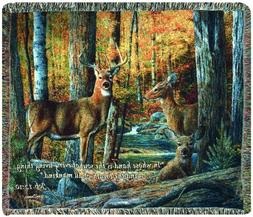 Manual Inspirational Collection Tapestry Throw with Verse, B