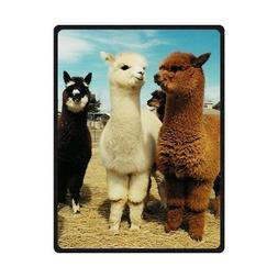 Fashion intimate llama Long neck Soft Fleece Blankets and th