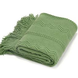 Battilo Inc Intricate Woven Throw Blanket with Raised Patter