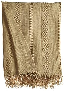 Battilo Intricate Woven Throw Blanket with Raised Patterns a