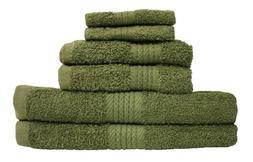 """Premium 6 Piece Cotton Bath Towel Set; 2 Bath Towels 27x52"""","""