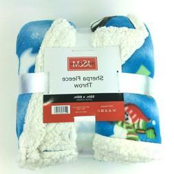 """J&M Home Fashions Plaid Fleece Plush Throw Blanket, 50"""" x 60"""