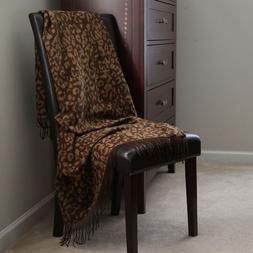 Lavish Home Jacquard Blanket Throw 50 x 60 - Gold
