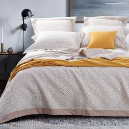 NTBAY Jacquard Coverlet Throw Blankets Luxurious 3 Layers Wa