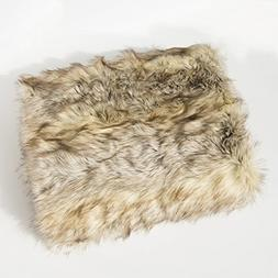Best Home Fashion Faux Fur Throw - Full Blanket - Kitt Fox -
