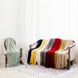 knit diamond pattern decorative sofa bed couch