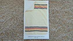 Pendleton Unisex Knit Sherpa Baby Blanket Ivory/Glacier Blan