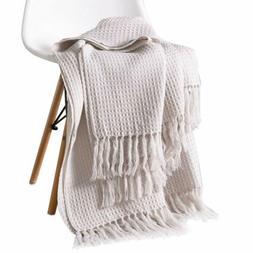 Knit Throw Blanket Couch Sofa Decorative Warm Cozy Nap Tasse