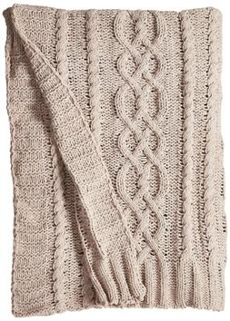 "Battilo Knitted Luxury Chenille Throw blanket, 51"" by 67"", L"