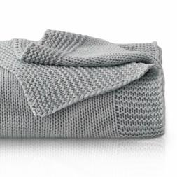 Knitted Throw Blanket for Sofa and Couch Lightweight Soft &