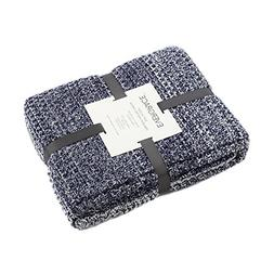EverGrace Knitted Throw Blanket for Sofa or Couch, Soft & Co
