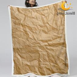 BlessLiving Kraft Paper Sherpa <font><b>Blanket</b></font> 3