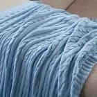 100% Cotton Adult Cable Knit Super Soft Throw Blanket Warm S