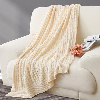 100% Soft Warm Sofa Bed Home Cable Throw