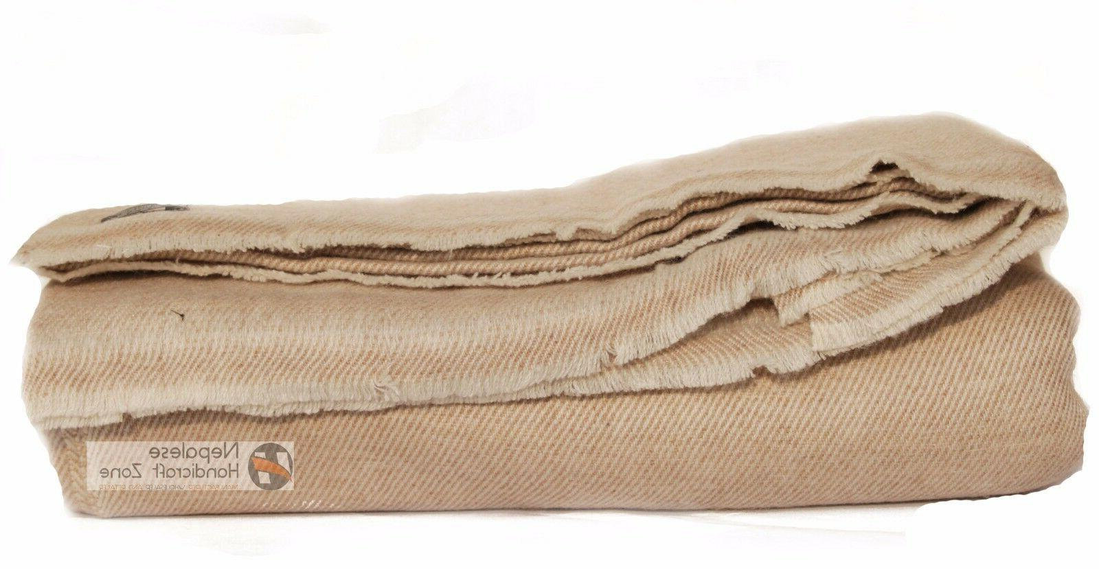 100% Natural Extra Large Himalayan Cashmere Blanket/Throw 90