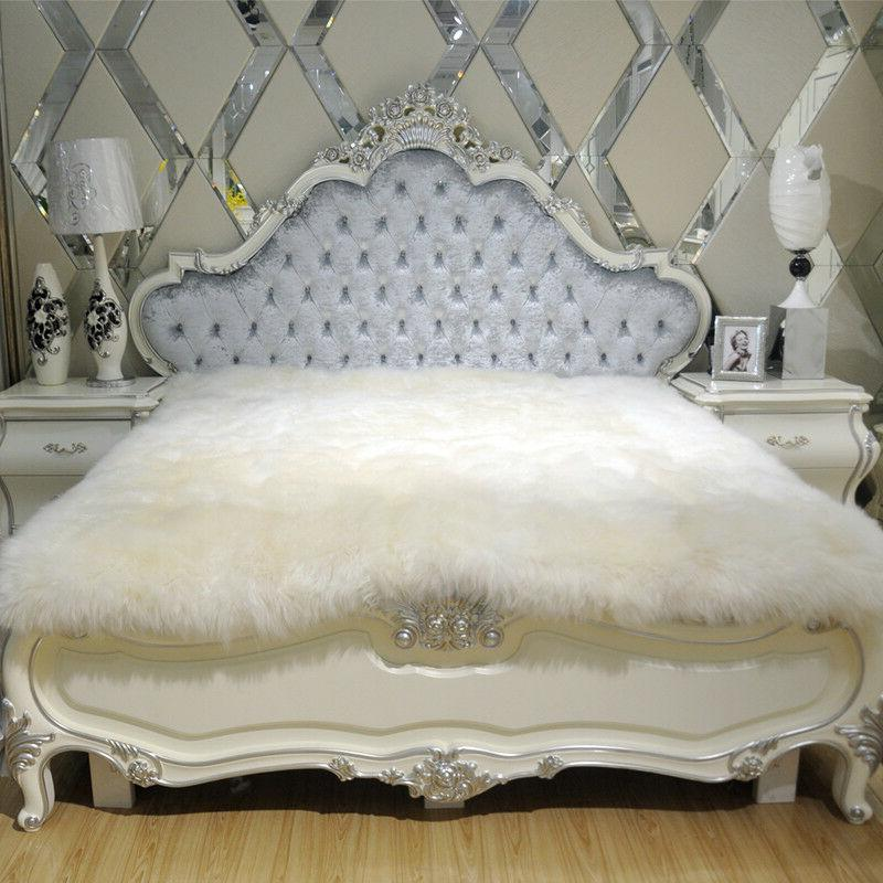 100% Pure Sheepskin bed mat 79 X 90 inch Bed Thick Fur Wool